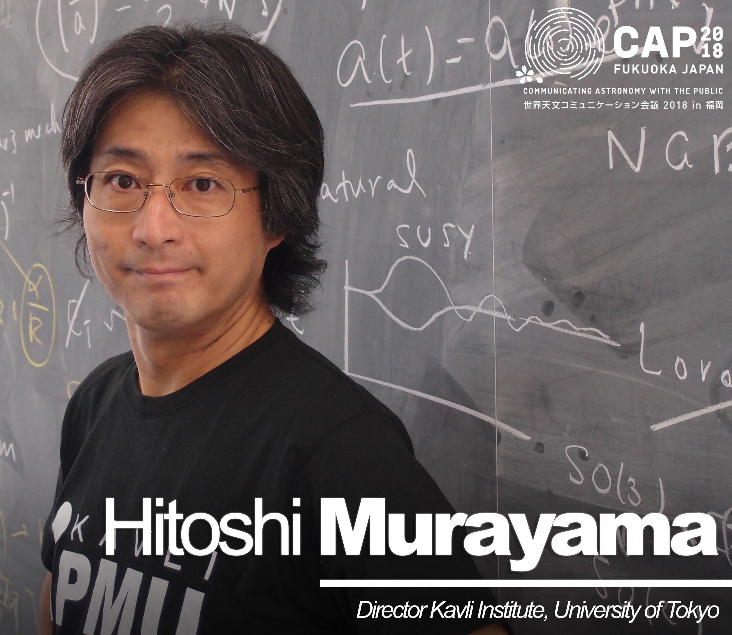 Invited speaker:  Theoretical physicist Hitoshi Murayama among invited speakers at CAP 2018